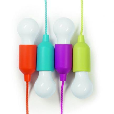 Set 4 becuri LED decorative fără fir Happy Lights, multicolore