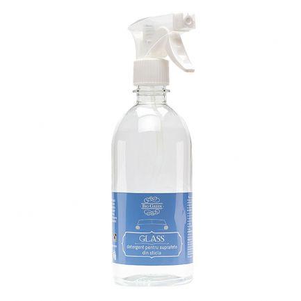 Detergent auto cu pulverizare pentru suprafețele din sticlă, Bio Green, 500 ml